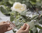 "3"" Large Clear Acrylic Sign Holders 