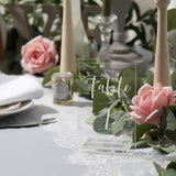Acrylic Wedding Table Numbers | 4x6 inch 1-20 Printed Calligraphy Table Number Sign