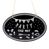 8x12 inch Twine Hanging Chalkboard Sign, Double-Sided Wooden Message Welcome Board Signs, 4 Count