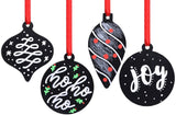 DIY Christmas Chalkboard Ornament, 4 Assorted Shape, Pack of 12