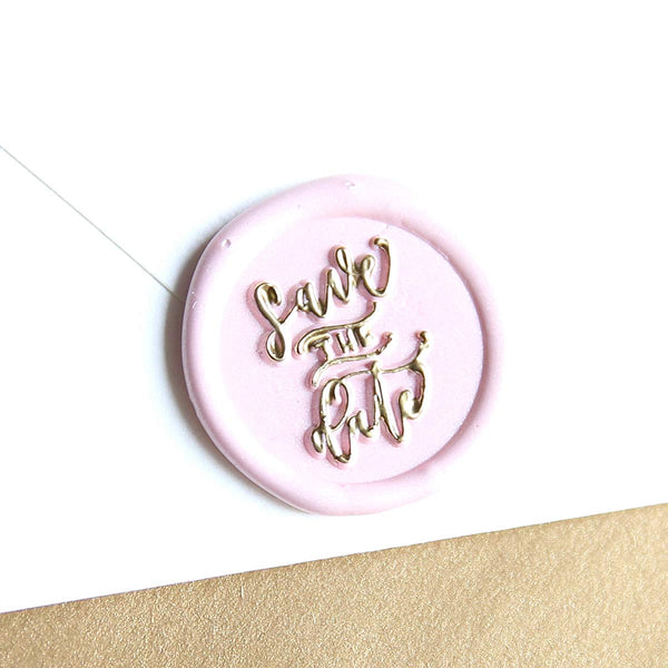 """Save the Date"" - Wax Seal Stamp Designed with Shelly Kim"