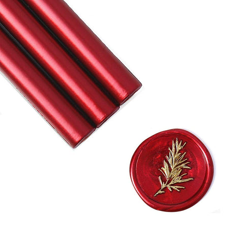 Metallic Burgundy Wine Red Glue Gun Sealing Wax Sticks, Pack of 8