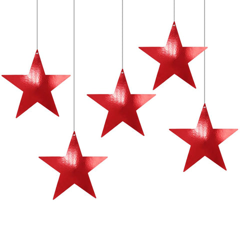 Metallic Red Foil Star Cutout
