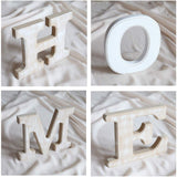 Rustic Wood Home Sign | Free Standing Wooden Block Cutout Letters | Sweet Home Decorative Signs