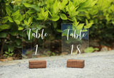 Rustic Place Card Holders | Rustic Walnut Wood Escort Cards Display Stands | Table Number Stand | Photo Stand, Set of 20