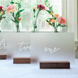 UNIQOOO 20 Pack Frosted Blank Acrylic Sign - 5x7 Inch Table Number Signs, Wedding Signs, Card and Gift Signs, Event Party Signs, Hand Lettering Quotes, Gift Ideas - Wood Stand NOT Included