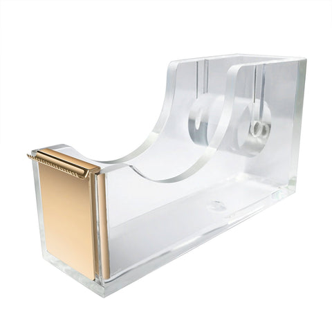Clear Acrylic Gold Desk Tape Holder