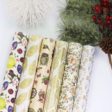 "UNIQOOO Premium Assorted Gift Wrapping Paper 24 Sheets,6 Designs 4 Each, Unique Gold Flora Kimono Style,Sheet Size 27½"" X17"", Brush Gold,Pearl Light Finish/Wedding Christmas Present Tissue Warp"