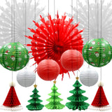 Christmas Honeycomb Paper Lantern Set