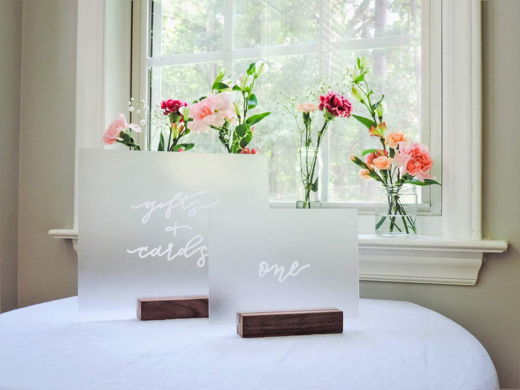5x7 Inch Frosted Blank Acrylic Sheet | Wedding Table Number Signs, Pack of 20