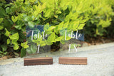 Rustic Walnut Wood Stands For Acrylic Sign, Medium