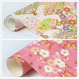 "NIQOOO Premium Assorted Gift Wrapping Paper 24 Sheets,6 Designs 4Each, Unique Exotic Japanese Kimono Style,Sheet Size 27½"" X17"",Brush Gold,Pearl Light Finish/Wedding Christmas Present Tissue Warp"