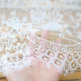 Wedding White Lace Table Runner | Rustic Shabby Chic Floral Tablecloth, Table Overlay, Centerpiece