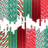 Christmas Drinking Paper Straws