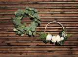 UNIQOOO 6 Feet Eucalyptus Garland, Artificial Greenery Wedding Vines, Pack of 2