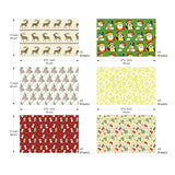 "UNIQOOO Premium Assorted Christmas Gift Wrapping Paper 24 Sheets,12 Designs 2Each,Unique Classic Holiday Elements Style,Sheet Size 27½"" X17"", Brush Gold,Pearl Light Finish/Present Tissue Warp Packing"
