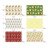 "UNIQOOO Premium Assorted Christmas Gift Wrapping Paper 24 Sheets,12 Designs 2 Each 3 Rolls, Holiday Elements Style,Sheet Size 27½"" X17"", Brush Gold,Pearl Light Finish/Present Tissue Warp Packing ( Only Delivery to US)"