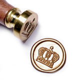 King's Crown Wax Seal Stamp Kit, Two Rusty Gold Wick Wax Sticks