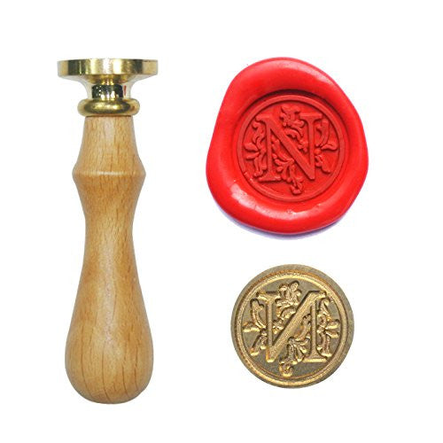 Floral Font Initial Symbol Wax Seal Stamp