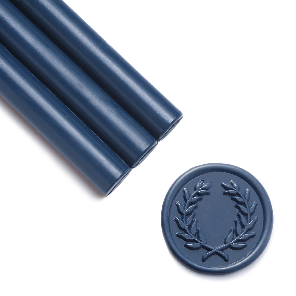 Navy Blue Sealing Wax Sticks, 8 Pack