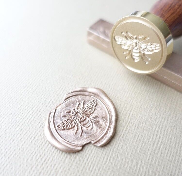 little bee wax seal stamp  u2013 uniqooo vintage crafts store