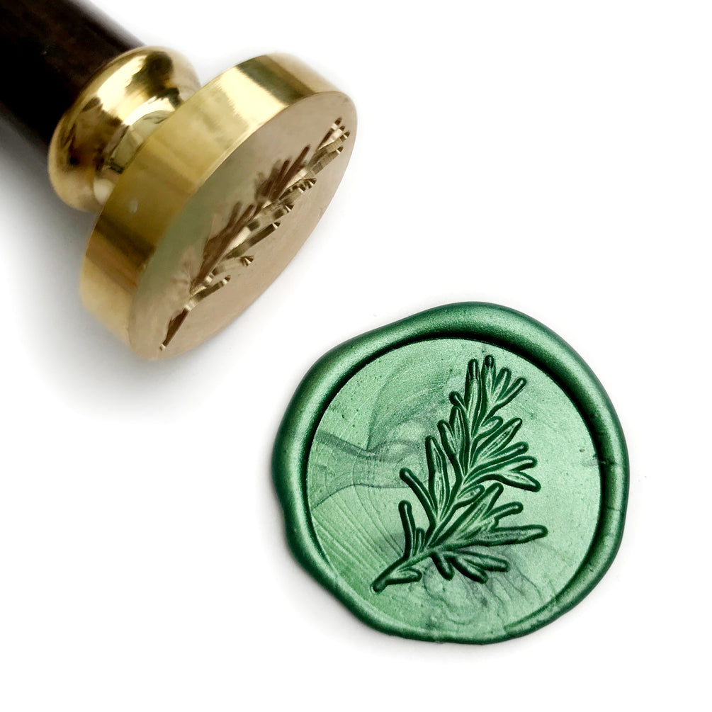 Botanical Rosemary Twig Wax Seal Stamp Gift Kit