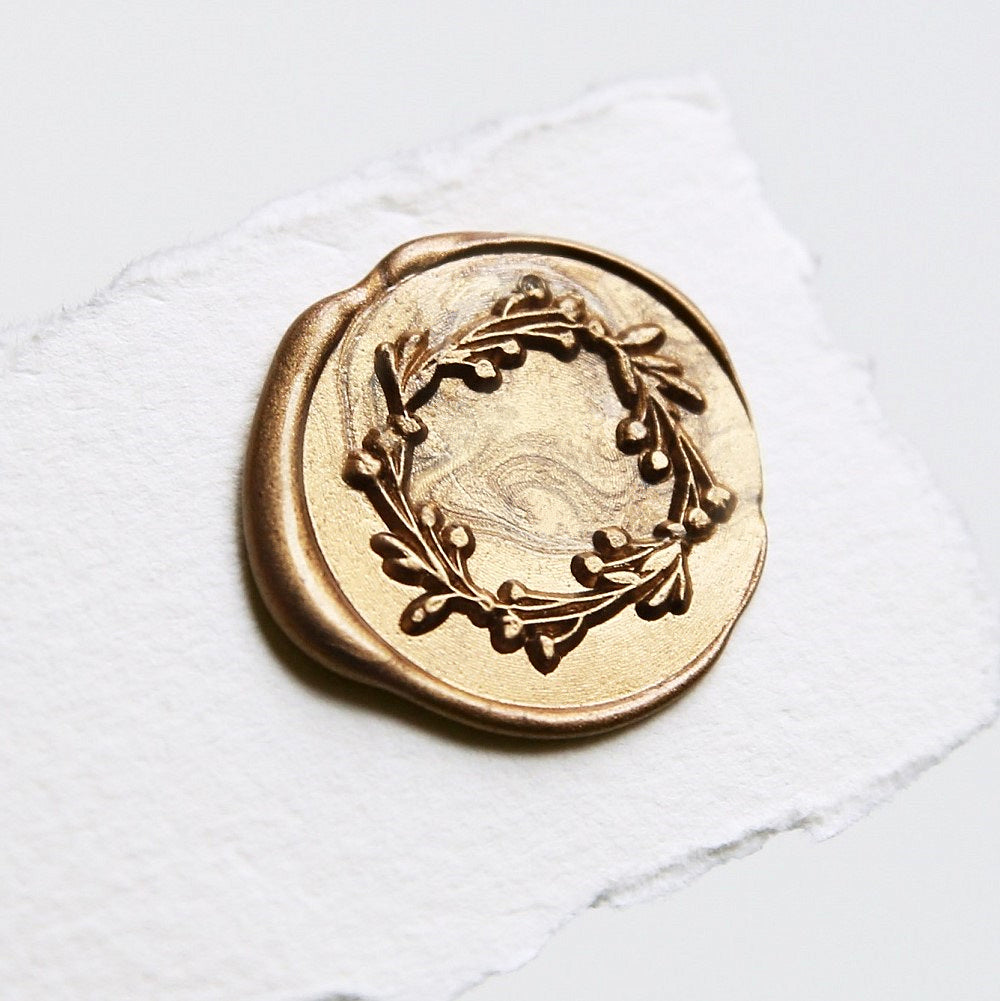 Cranberry Wreath Botanical Wax Seal Stamp