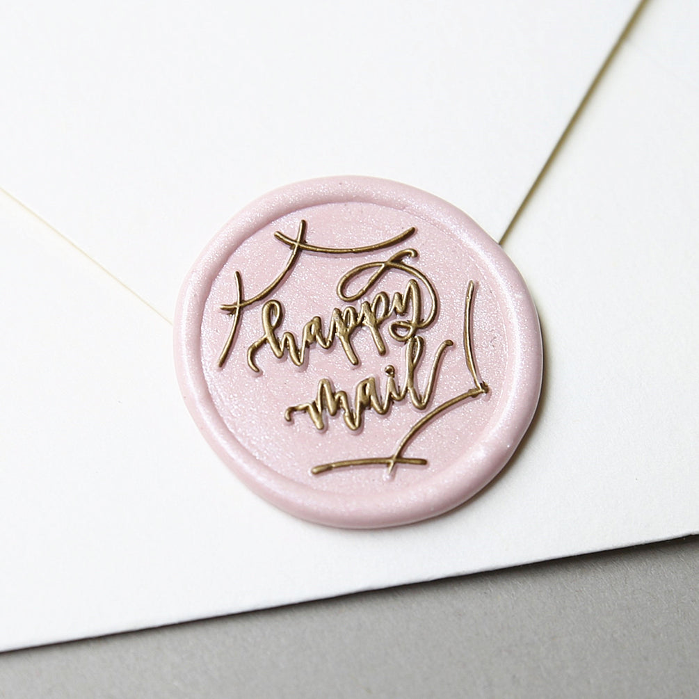 """Happy Mail"" - Wax Seal Stamp Designed with Shelly Kim"