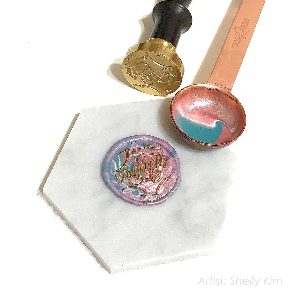 """Congrats"" - Wax Seal Stamp Designed with Shelly Kim"