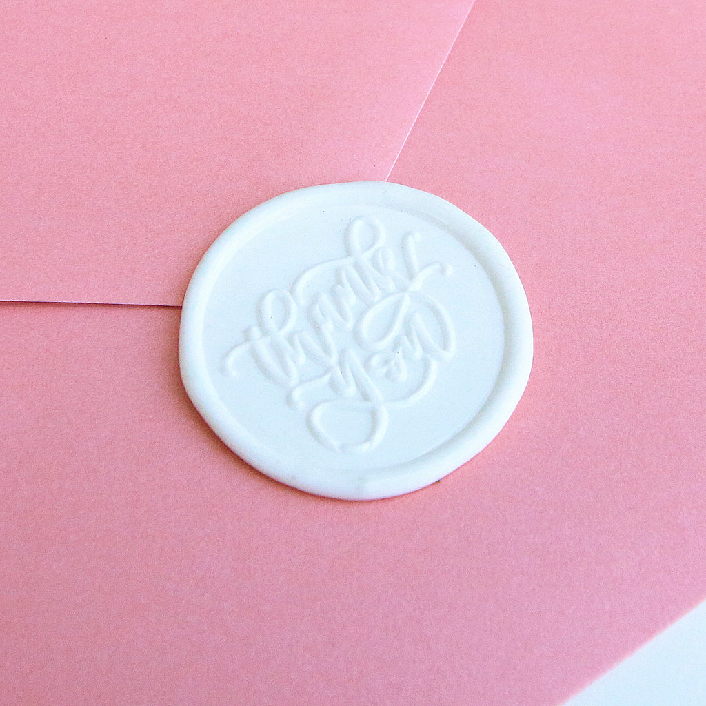 """Thank You"" - Wax Seal Stamp Designed with Shelly Kim"