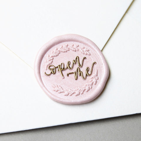 """Open Me"" - Wax Seal Stamp Designed with Shelly Kim"