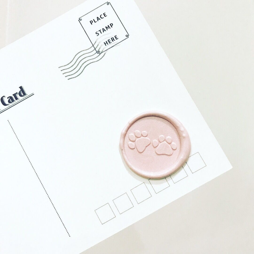 Cute Cat Dog Paw Wax Seal Stamp