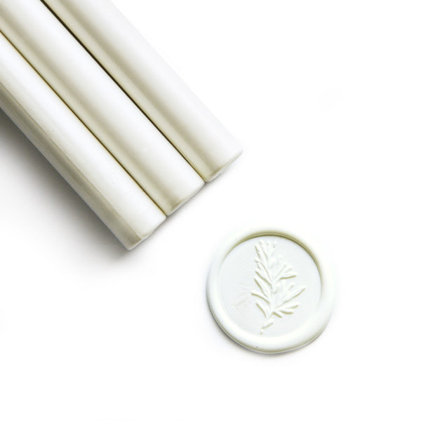 White Sealing Wax Sticks, 8 Pack