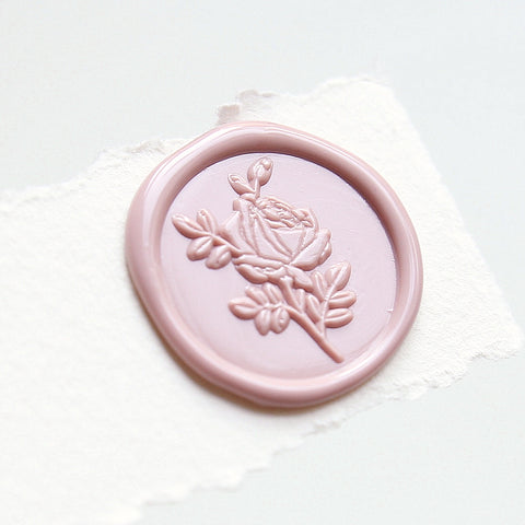 Wild Rose Wax Seal Stamp