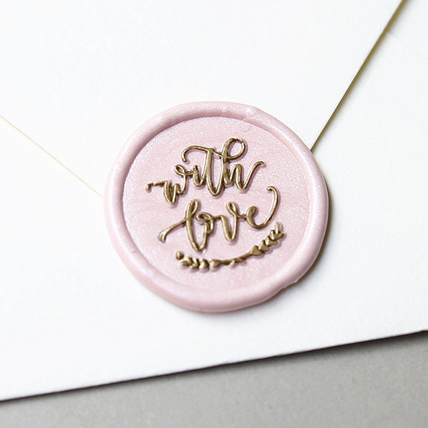 """With Love"" - Wax Seal Stamp Designed with Shelly Kim"