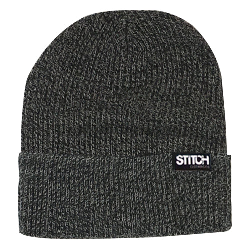 Cuffed Beanie - Black/White