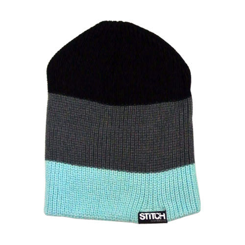 Beanie - Black/Gray/Mint