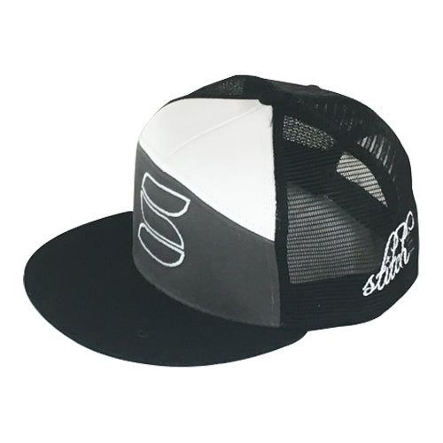 Trucker - Charcoal/Black/White Flatbill