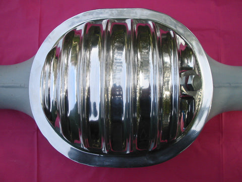 Ford 8 inch diff cover for early Ford Customlines and Mustangs. Polished Aluminium