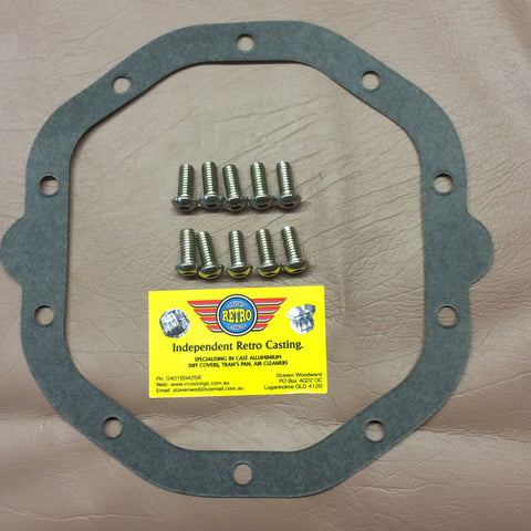 Holden diff gasket and 8 bolt kit for Gemini, 6 cylinder late WB