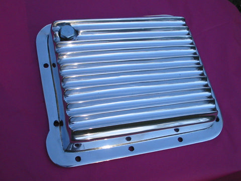 Ford C4 Transmission pan Polished Aluminium