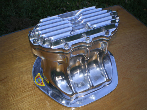 Jaguar Quick change diff cover for independent rear suspension. Polished Aluminium