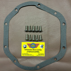 Jaguar diff gasket and 10 bolt kit. Polished stainless steel bolts