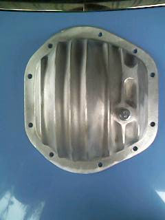 Jaguar diff cover for all independent rear end suspensions. UnPolished Aluminium