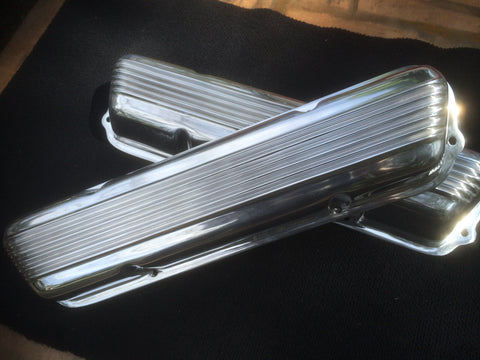 Valve Covers Holden V8 308, 253. Polished Aluminium