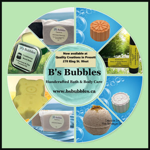 B's Bubbles is now available at Quality Creations In Prescott!!