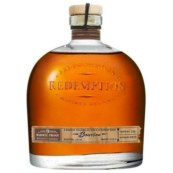 Redemption 9 Year Barrel Proof Bourbon