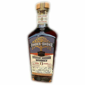The Bard Distillery Cinder & Smoke 13 Year Straight Bourbon Whiskey