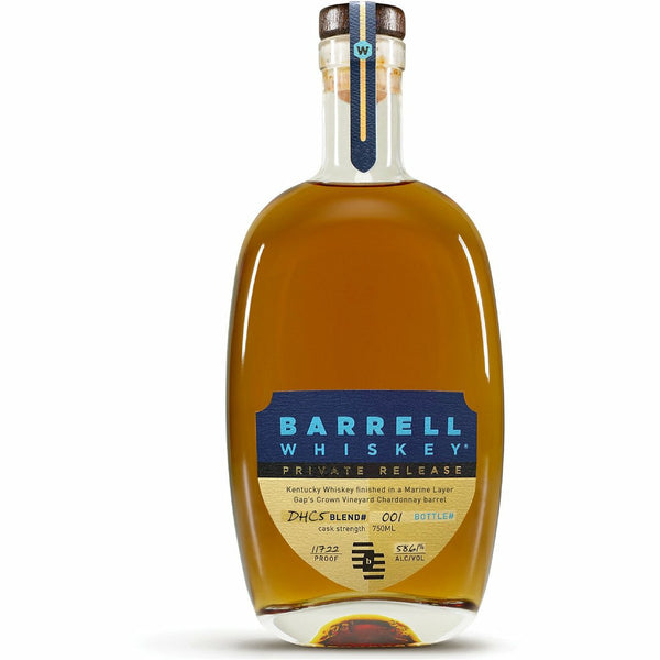 Barrell Whiskey Private Release DHC5 finished in a Marine Layer Gap's Crown Vineyard Chardonnay Barrel