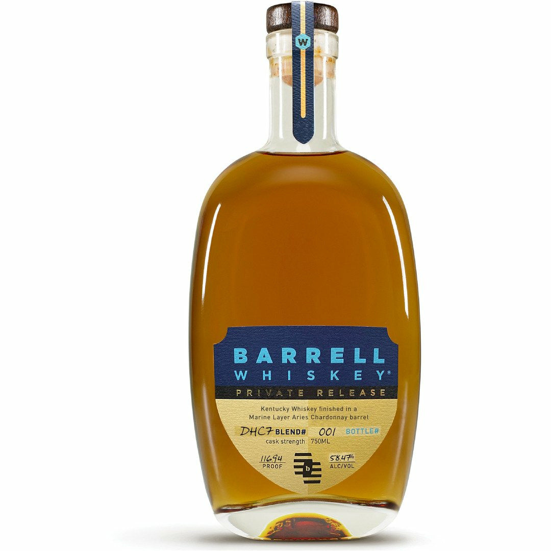 Barrell Whiskey Private Release DHC7 finished in a Marine Layer Aries Chardonnay Barrel